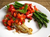 Cod with Strawberry Salsa